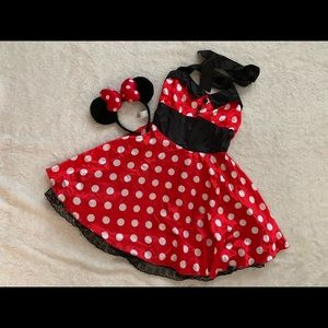 Minnie Mouse costume women's size medium 8/10